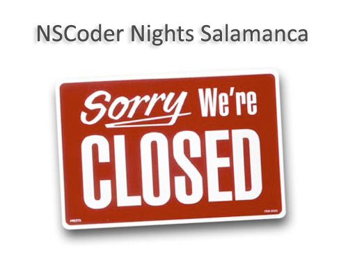 NSCoder Nights Salamanca Closed